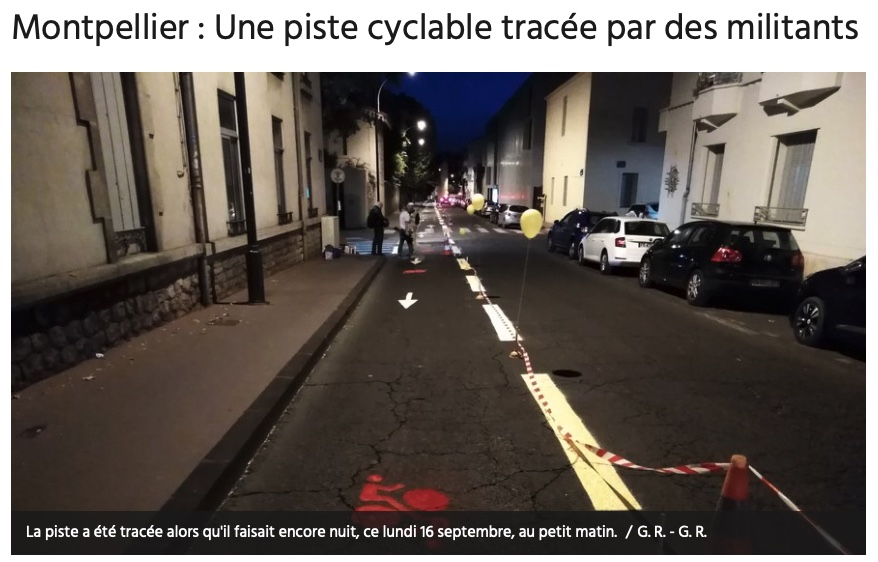Montpellier - piste cyclable pirate